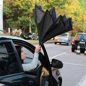 Guarda-chuva Invertido Super Brella Cor Preta