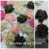 Flores De Tul 15mm Decoraciones Arbolitos Topiarios X100