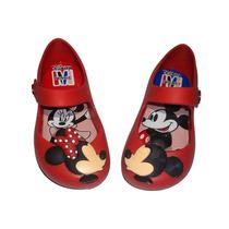 Mini Sapatilha Minnie E Mickey Infantil Menina