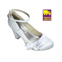 Sapato Boneca Scarpin Up Shoes Noivas,salto Grosso 8 Cm !!!