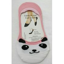 6 Pares Calcetas Protector Mujer Niña Gato Panda Con Silicon