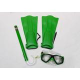 Kit Snorkel E Pé De Pato Infantil Bel Verde