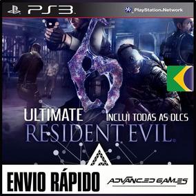 Resident Evil 6 + Todas As Dlcs - Jogos Ps3 Midia Digital