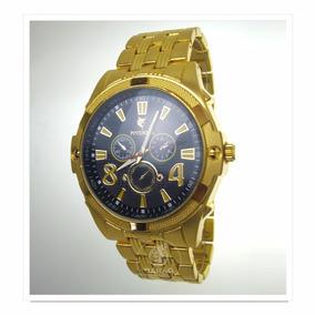 Relógio Potenzia Apiu J624 Dourado