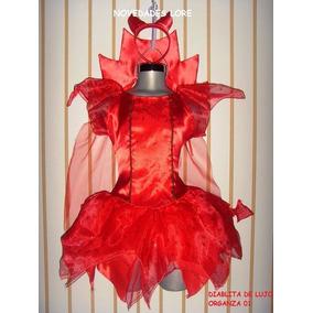 Disfraz Niña Tallas 2 3 Y 4 Años Diabla Vestido Halloween