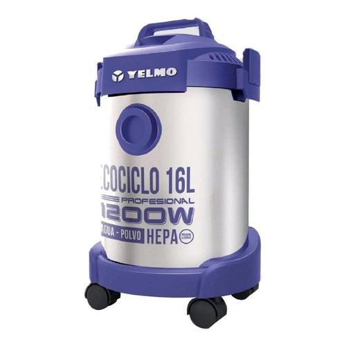Aspiradora Yelmo AS-3314 16L  plata y violeta 220V