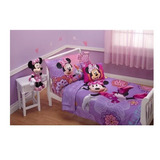 Set De Cama 4 Piezas Toddler Disney Minnie Mouse