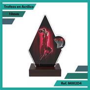 Trofeos En Acrilico De Baloncesto Ref. M002d4