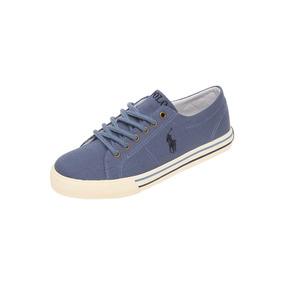 Tenis Azul Con Agujeta - Polo Ralph Lauren - 538285 - Azul
