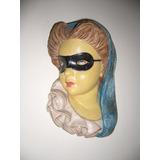 Esculturas Caras De Mujer (2) Antiguas Italianas De 1950.