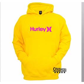 Moletom Hurley Masculino Blusa De Frio Canguru 3ddc4ee384c