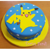 Pokemon Torta Decorada 2 Kg