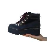 Botas Mujer Zapatillas Zapatos Cuero Vacuno Cordon Rojo