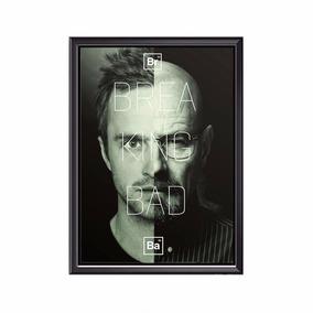 Quadro Poster Minimalista Breaking Bad Jesse E Walter 44x33
