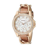 Reloj Fossil Original Es3466 Mujer Riley Rose Gold 37mm