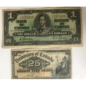Billetes $1 Y 25 Centavos Canada Lote Envio Gratis