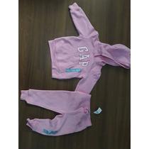 Conjunto Gap Infantil Baby Rosa Calça E Blusa 18-24 Anos