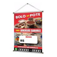 Banner Pronto Bolo No Pote