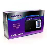 Radio Portatil Am Fm A Pilas Y Electrica Manija Winco W-1231