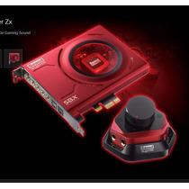 Placa De Som Creative Sound Blaster Zx Pci-e - Mic - Caixa