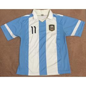 Playera Marca Gol Argentina Azul-blanco.