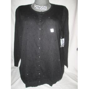 Sweater De Gala Negro Con Pedreria Talla 4 X