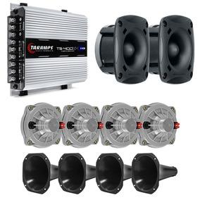 Kit Som 4 D250x 100w 1 Módulo Ts400 4 Corneta 2 St200 100w