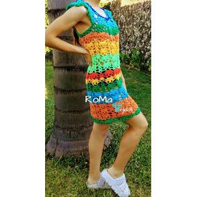 Vestido Playa Tejido Crochet