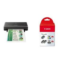 Impresora Canon Pixma Ip110 Tinta Bundle Negro