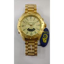 Relógio Original Atlantis Skydiver Dourado Ana - Digi