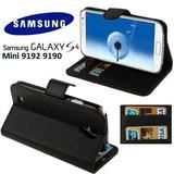 02 Capa Capinha Carteira Flip Top Galaxy S4 Mini 9192