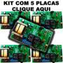 Kit 5 Placas Motor De Portao Universal Com Anti-arrombamento