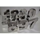 Números Residencial Inox 20 Cm Corte A Laser Pronta Entrega