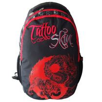 Mochila Tattoo Skin Preta E Vermelha Hayamax