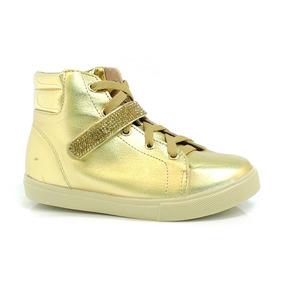 Tênis Sneakers Infantil Molekinha Dourado - 2163103-10885