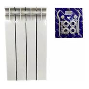 Radiador Caldaia  4 Elementos Con Kit Instalación