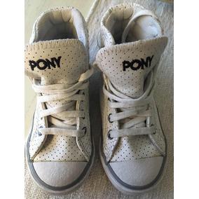 Zapatillas Botitas Pony Cuero Talle 26