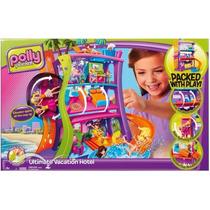 Polly Pocket Hotel Luxu + Bonecas E Acessórios