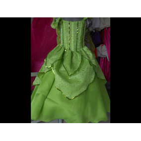 Espectacular Vestido Disfraz Lujo Campanita