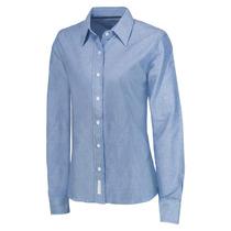 Blusa Para Dama Oxford Azul Francia