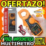 Wow Pinza Amperimetrica Multimetro Digital Con Pilas Mt87