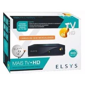 Kit Completo Oi Tv Livre! Antena Ku + Receptor Elsys Hd