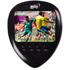 Mini Tv 1.8 Lcd De Bolso Mão Com Tv Rádio Fm E Relógio