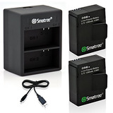 Smatree® Li-polymer Battery (2-pack) And Rapid Dual Charger