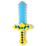 Picareta / Espada Minecraft Diamante Ou Ouro 37cm Som E Luz