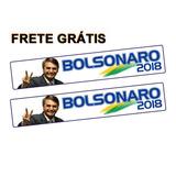 Kit 2 Adesivos Bolsonaro 2018 - 21x4 Cm - Frete Grátis