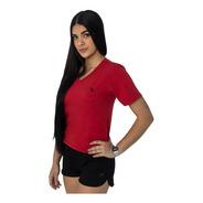 Kit 5 Camisetas Baby Look Feminina Gola V  Basica