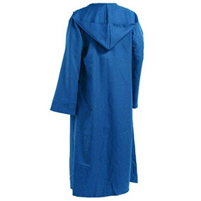 Hombres Tunic Hooded Robe Capa Caballero Disfraz Cool W32