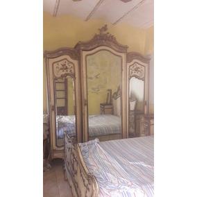 Juego Dormitorio Cama Dresuar Mesa De Luz Ropero 3 Cuerpos