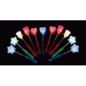 Varita Led Estrella, Corazón O Flor X 1 - Multicolor